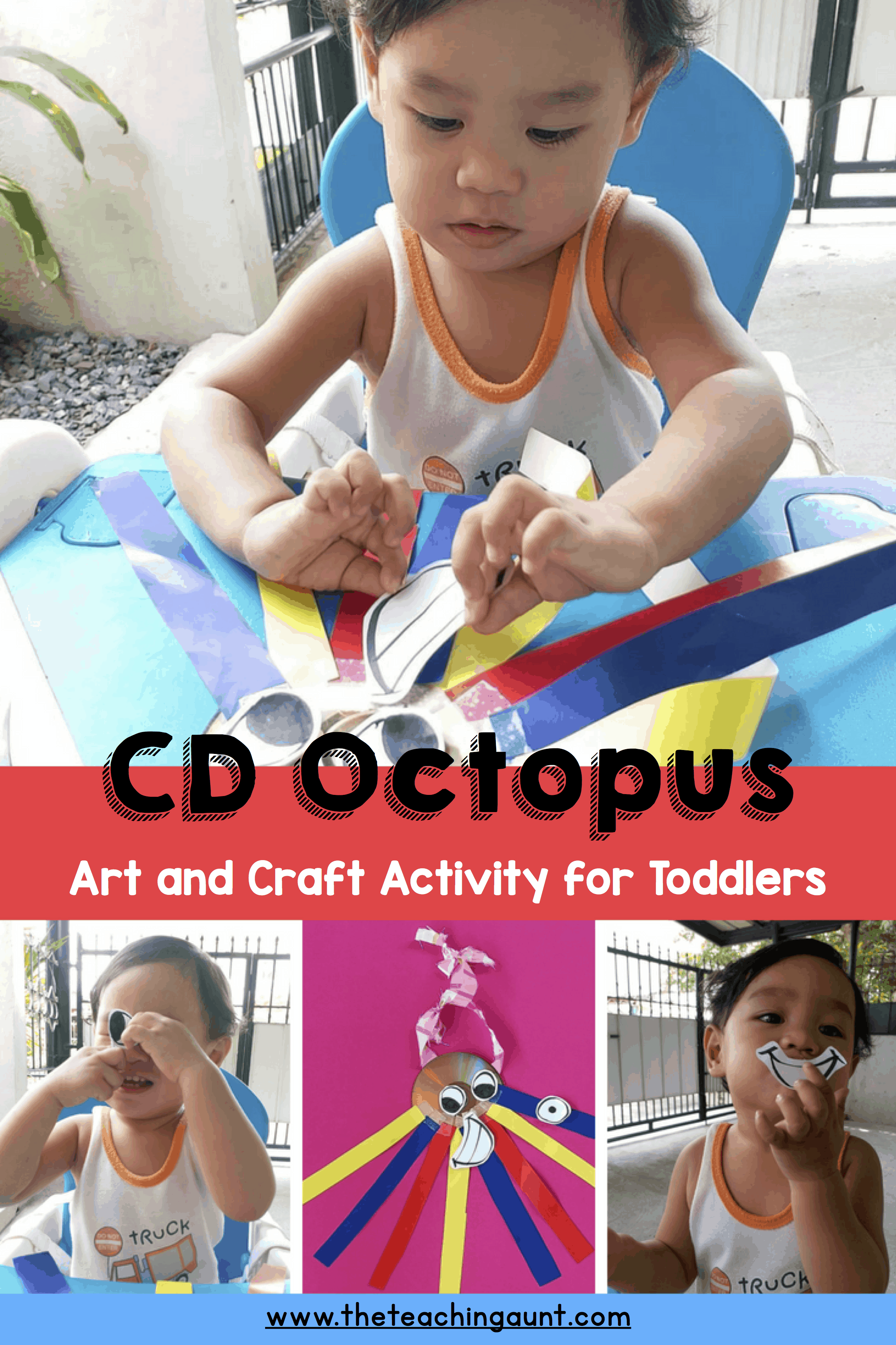 CD Octopus Art and Craft Activity for Toddlers P1
