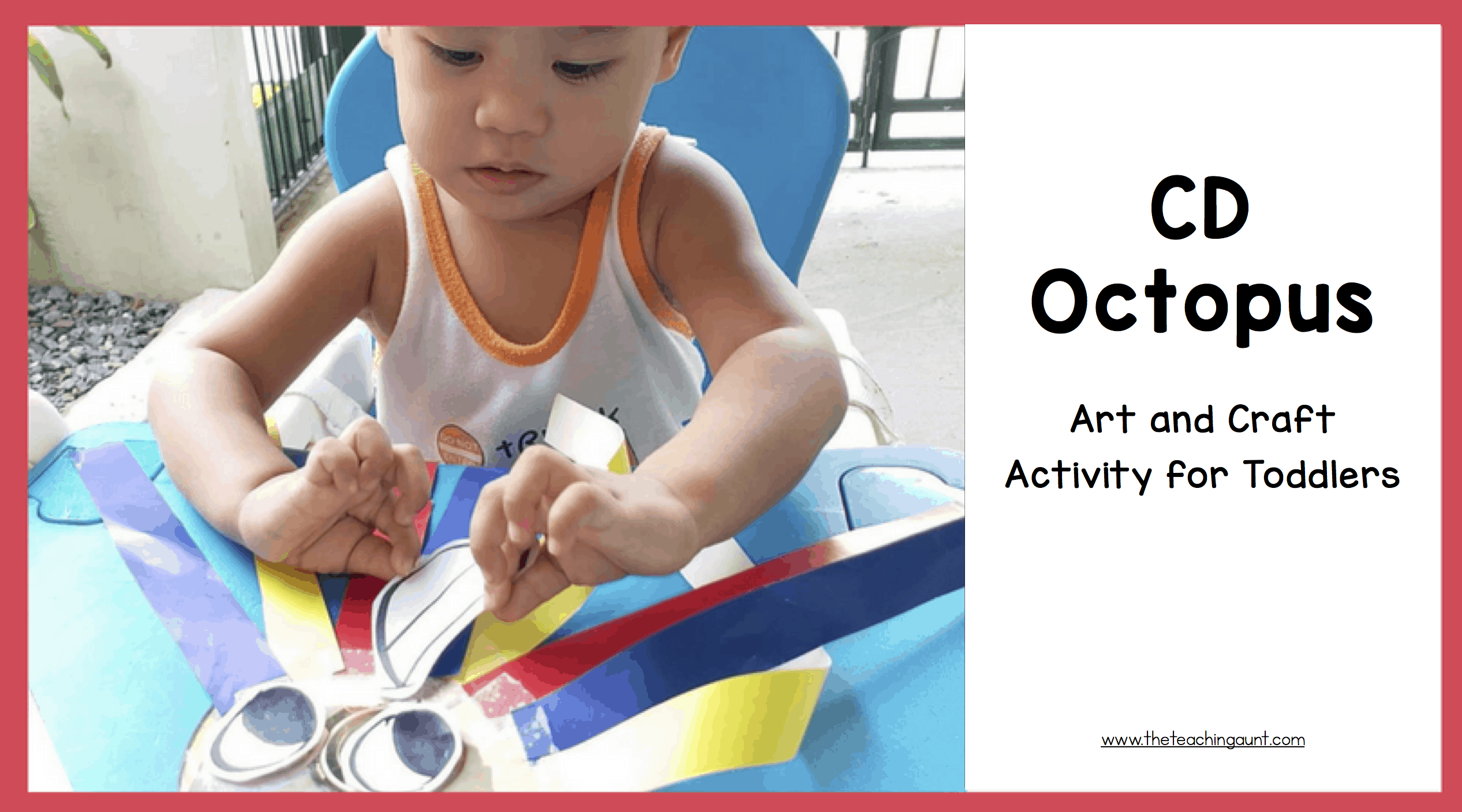 CD Octopus Art and Craft Activity for Toddlers