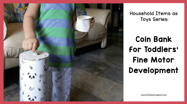 Coin Bank for Toddlers: Household Items as Toys Series