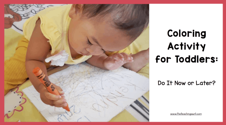 Coloring for Toddlers: Do It Now or Later?