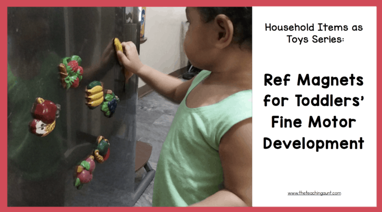 Household Items as Toys Series: Ref Magnet For Toddlers Fine Motor Development
