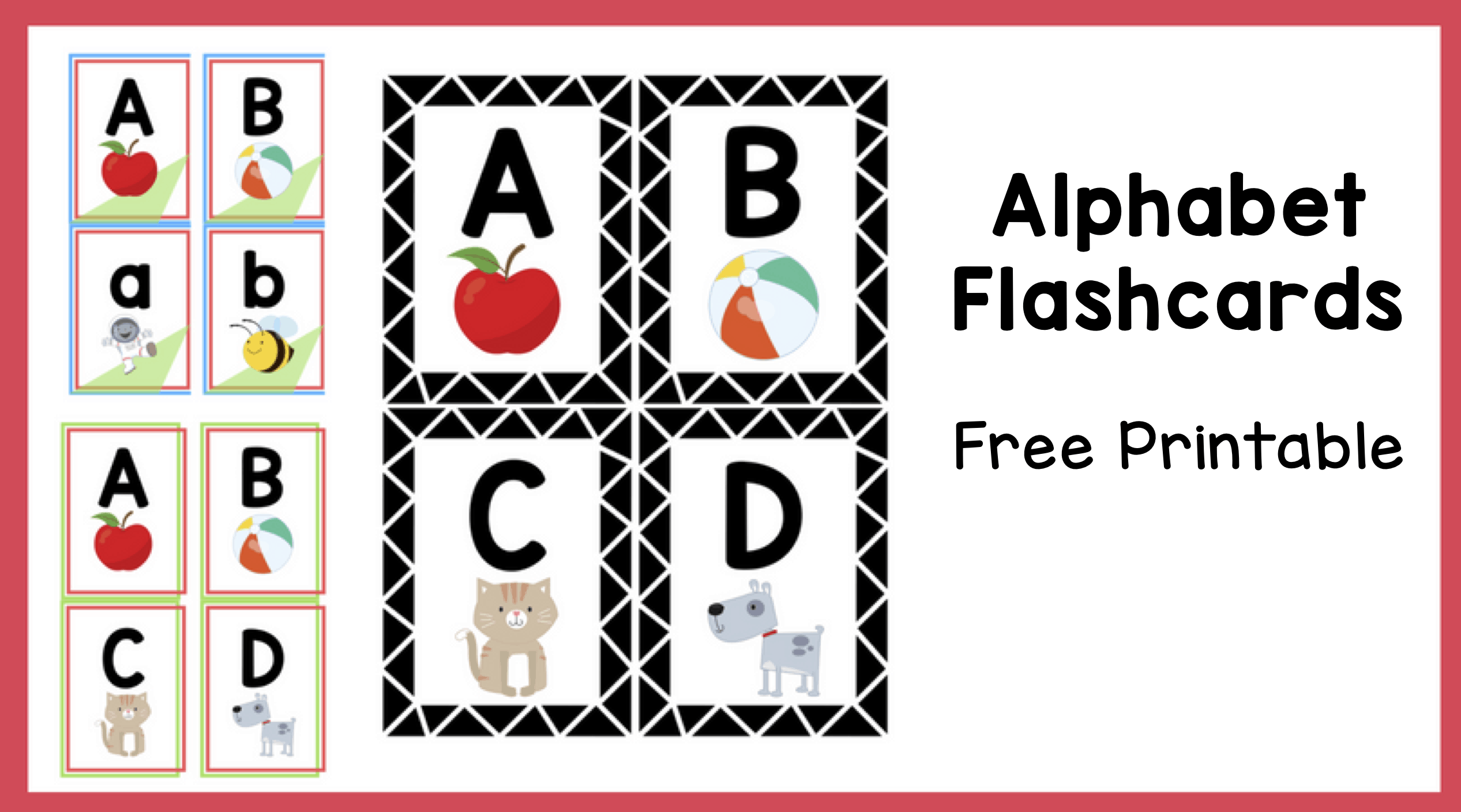 Alphabet Flashcards Free Printable The Teaching Aunt