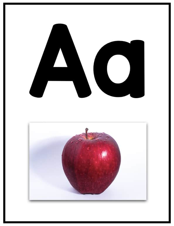 photograph about Printable Alphabet Flash Cards named Alphabet Flashcards with Shots of Concrete Things - The