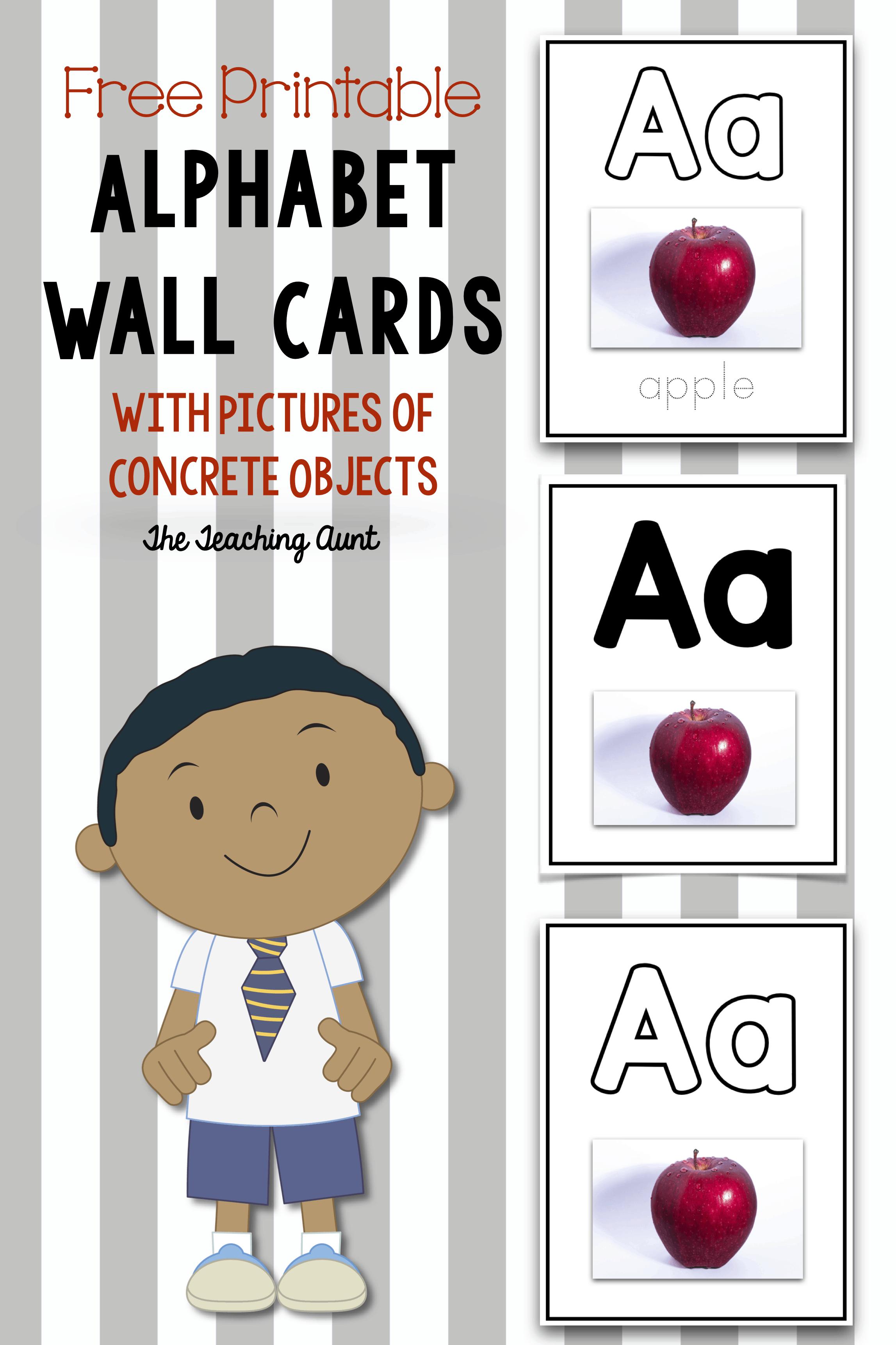 Alphabet Wall Cards Free Printable