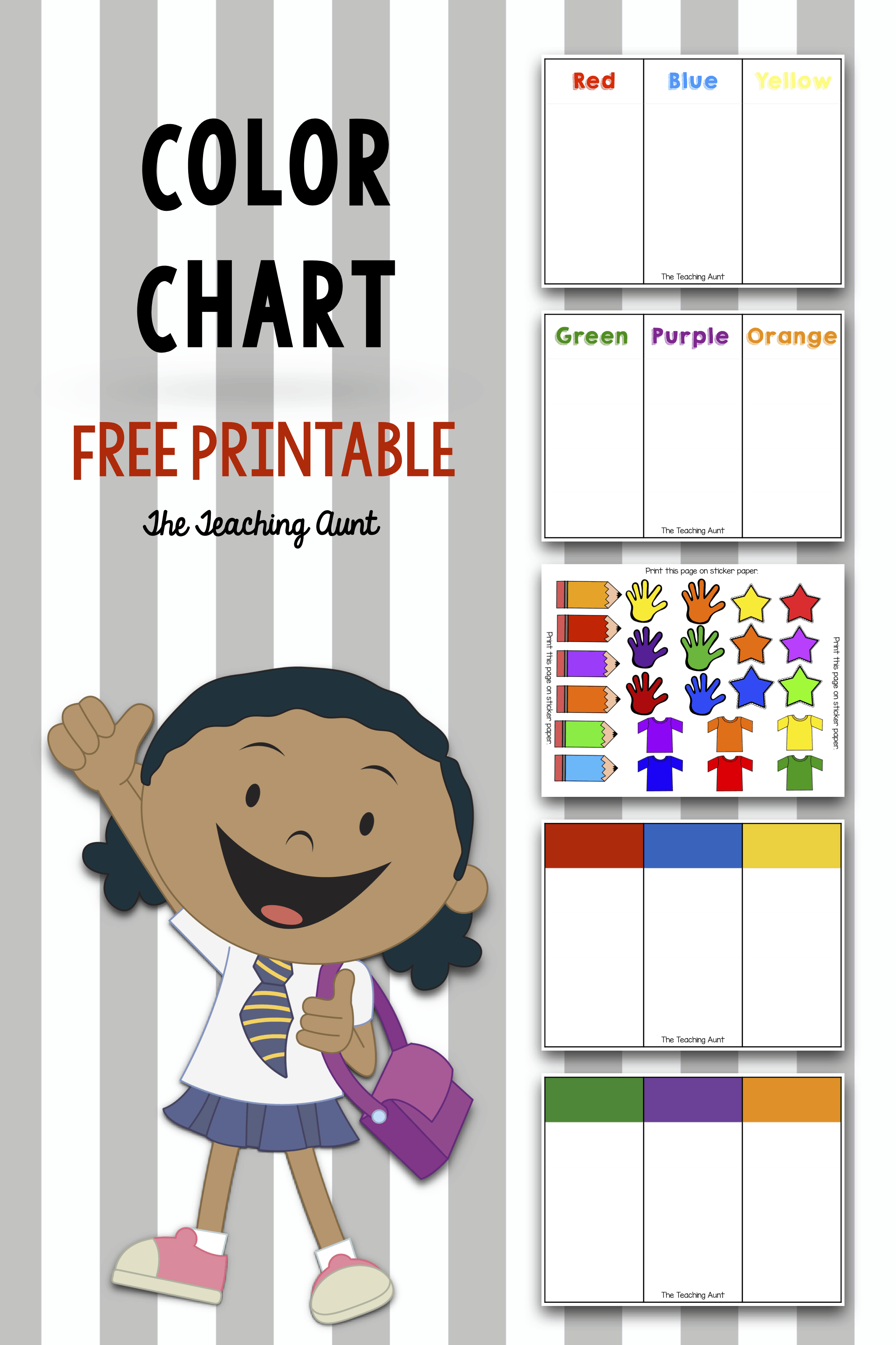 graphic about Free Printable Color Chart named Shade Charts for Babies and Preschoolers Absolutely free Printable