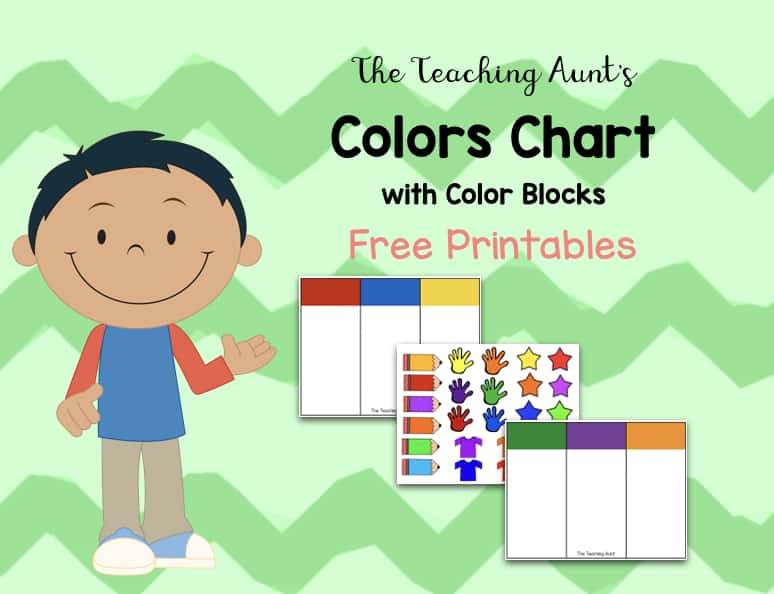 photograph about Printable Color Chart called Shade Charts for Infants and Preschoolers Cost-free Printable