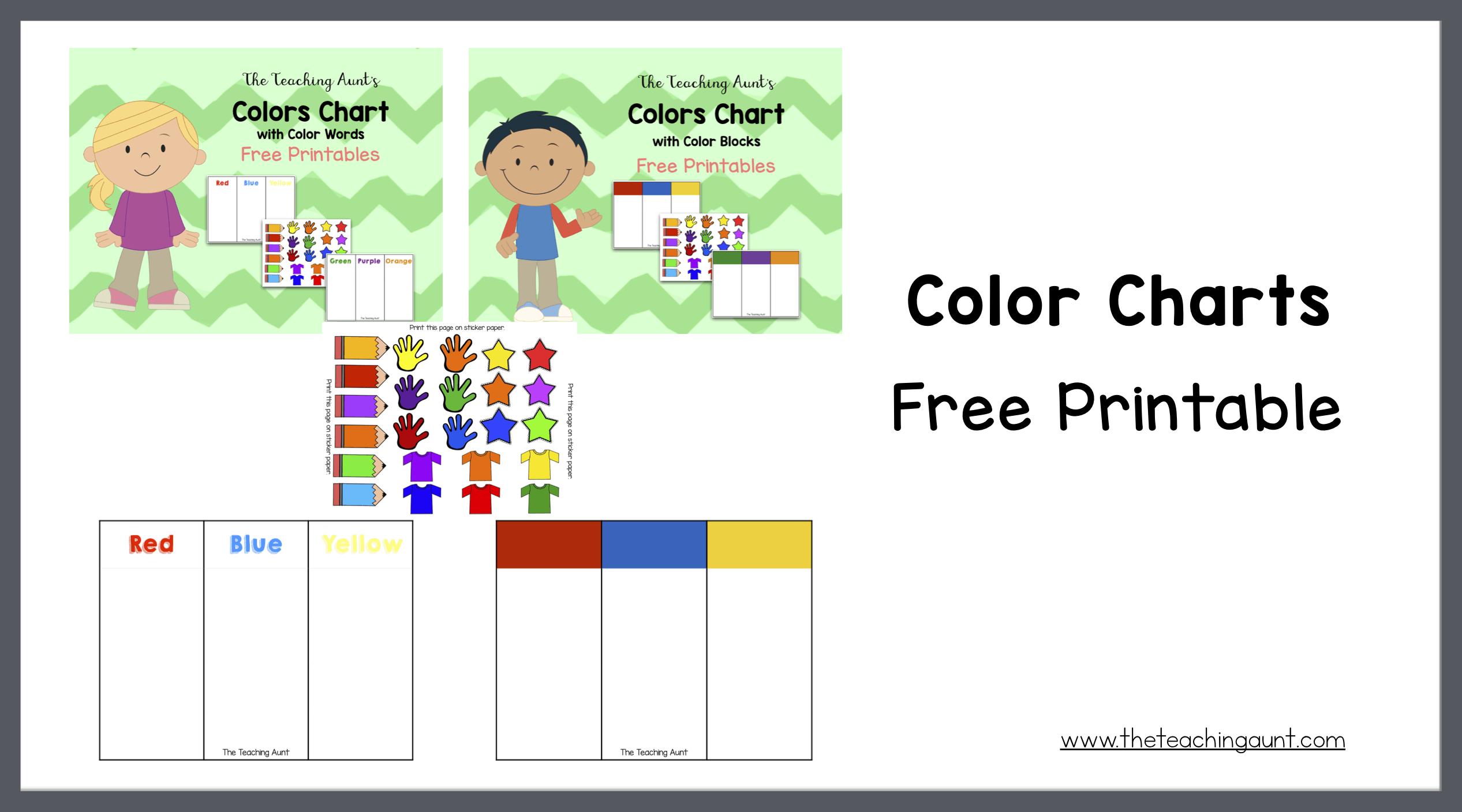 Color Charts Free Printables