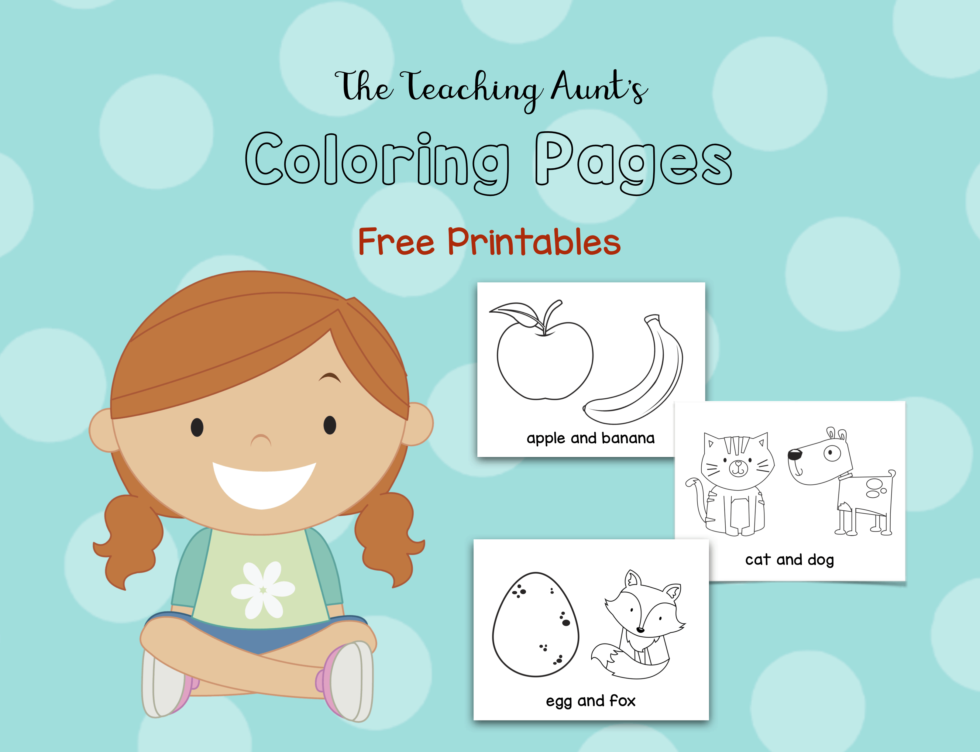Free Coloring Pages for Toddlers from The Teaching Aunt