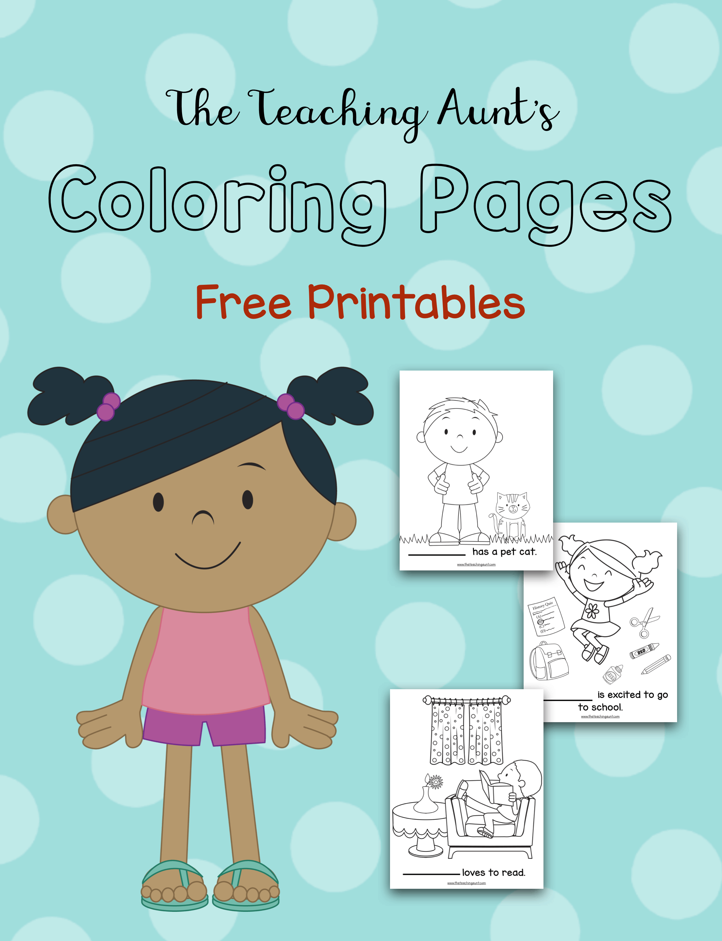 Freebie Coloring Pages from The Teaching Aunt