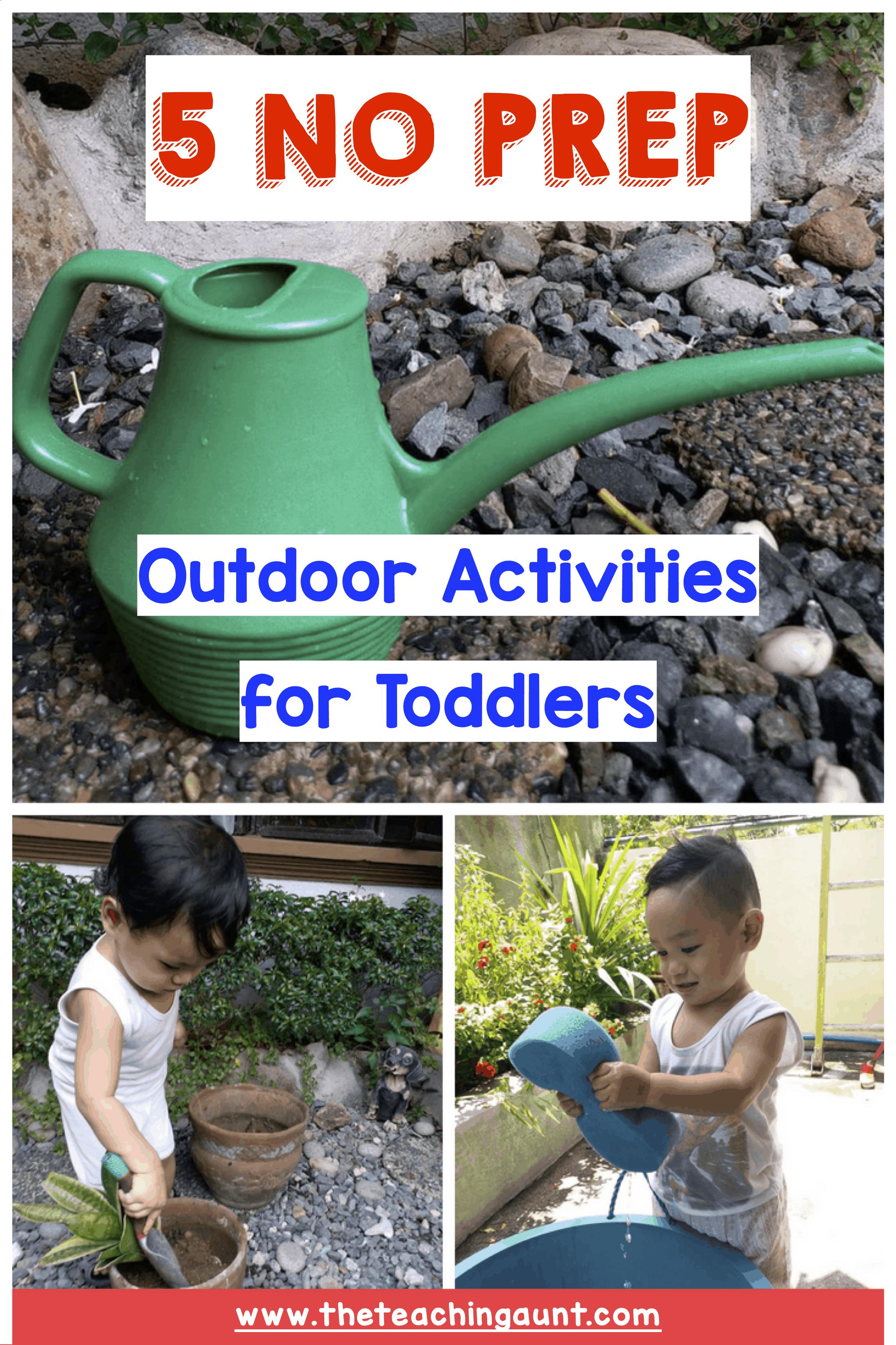 NO PREP Toddler Activities - Outdoor Activities