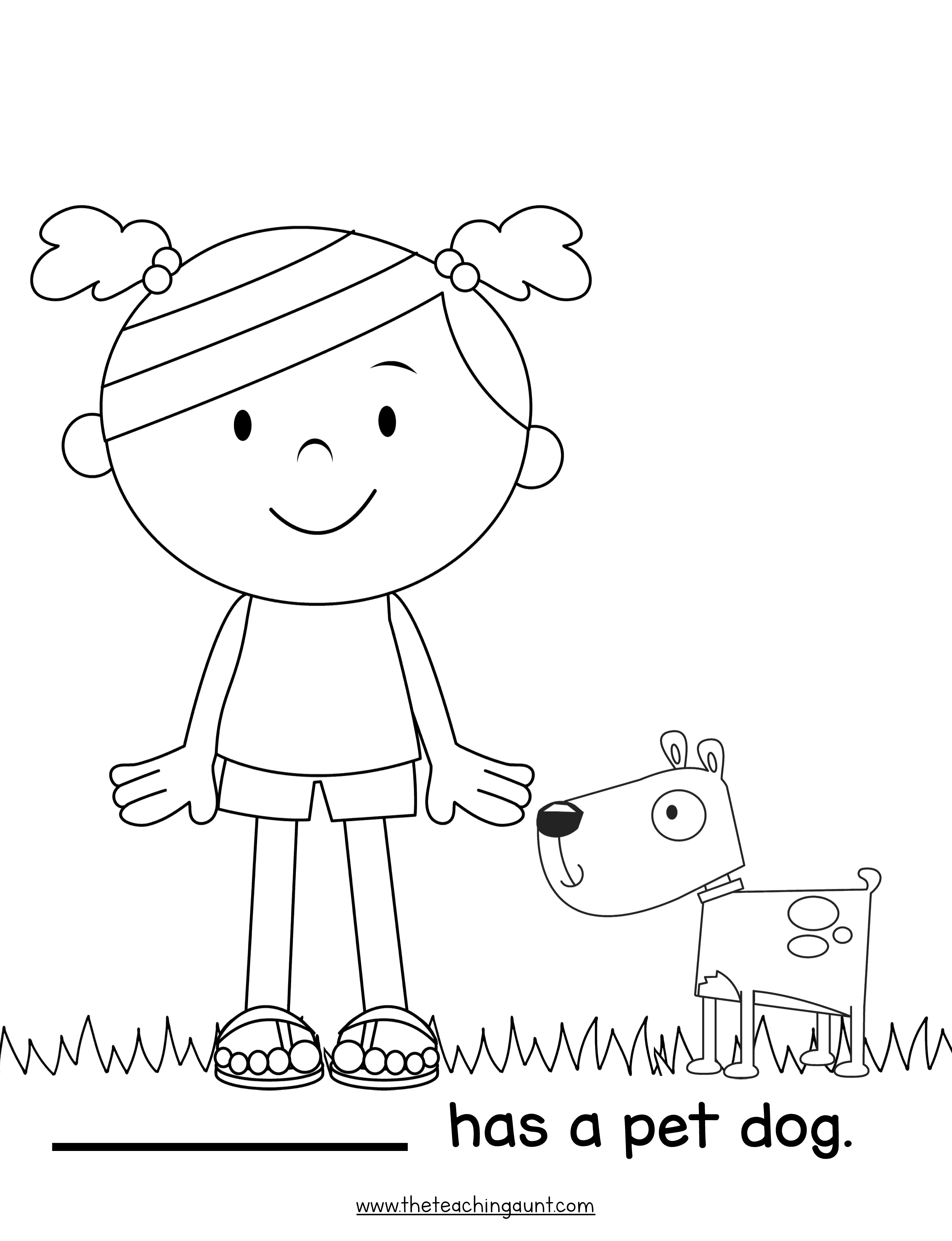 The Teaching Aunt Free Printable Coloring Pages for Preschoolers