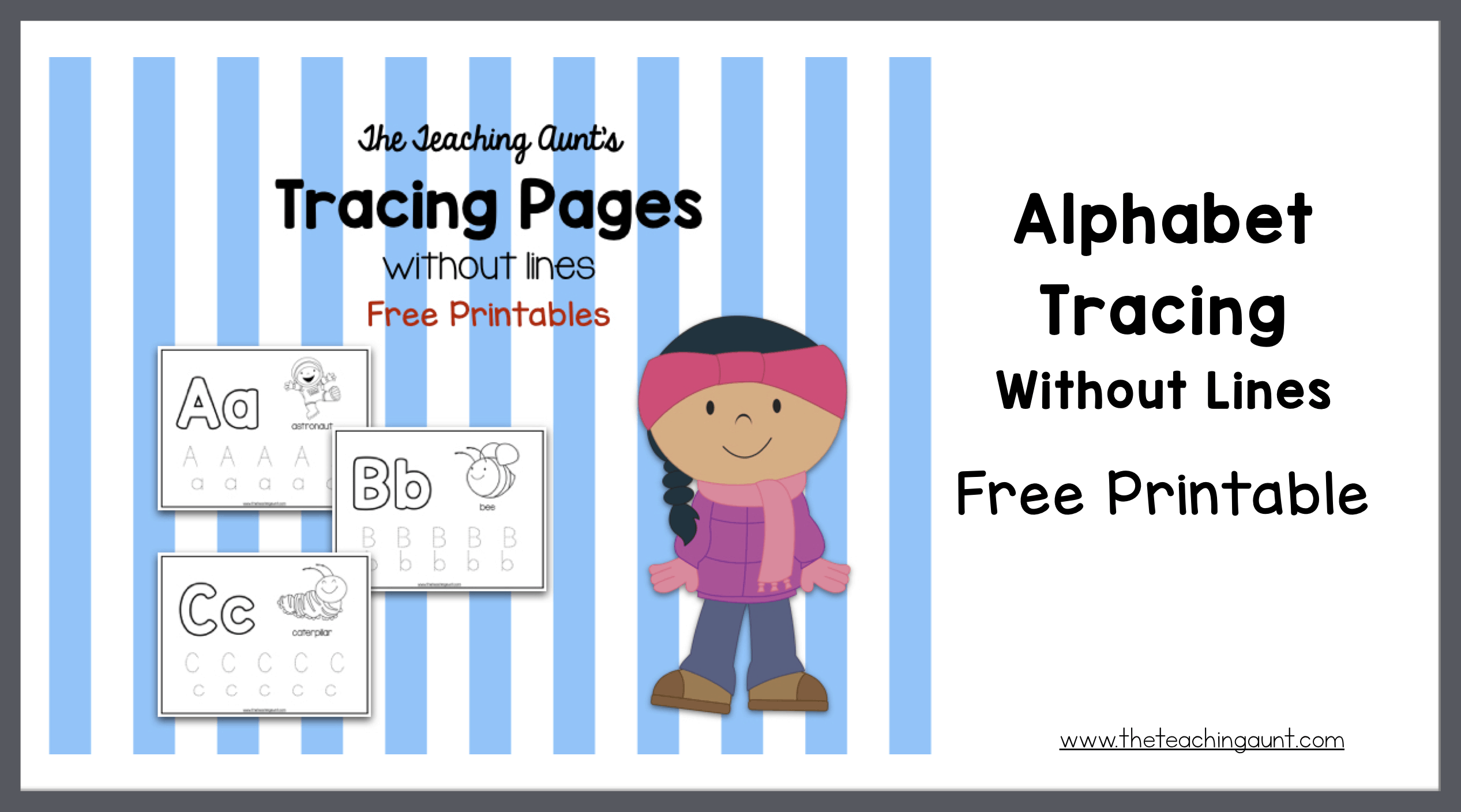 Alphabet Tracing Without Lines Free Printable