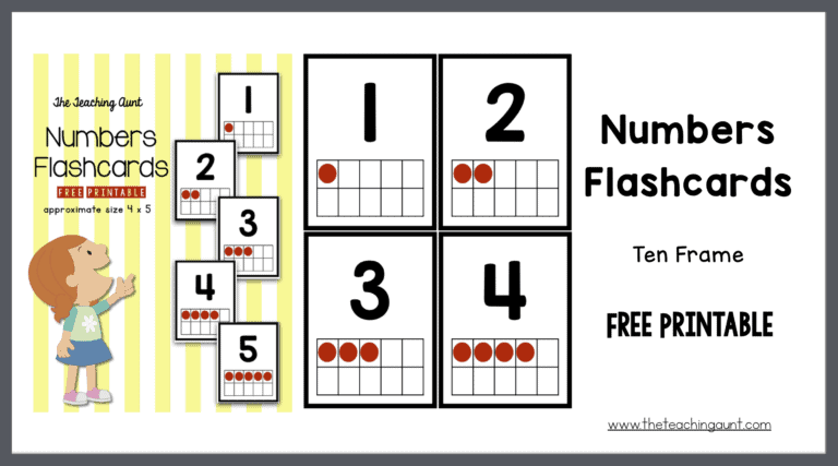 Numbers Flashcards Ten Frame