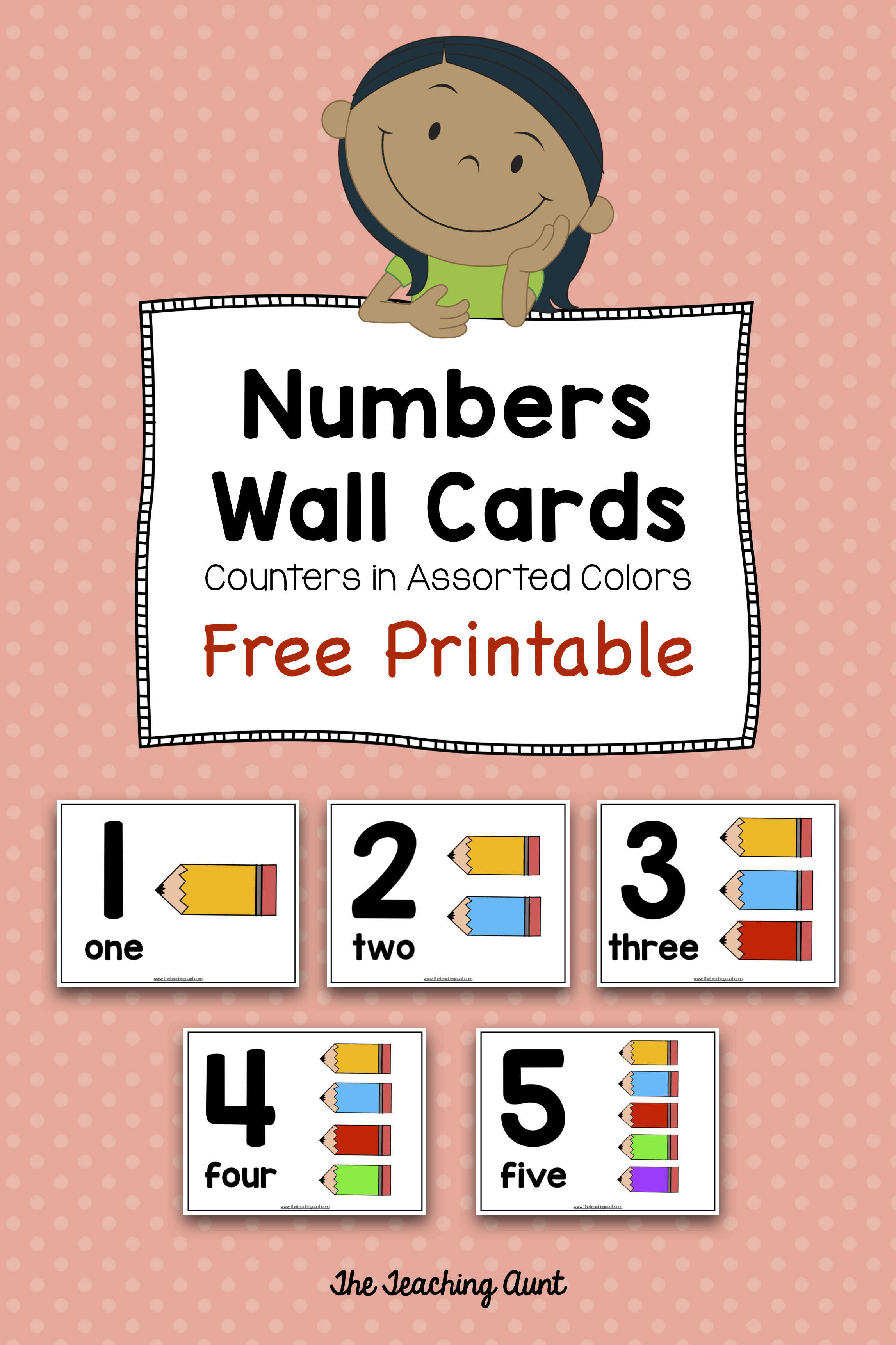 photograph relating to Printable Numbers 1-10 referred to as Selection Wall Playing cards for Preschoolers with Vibrant Pencil