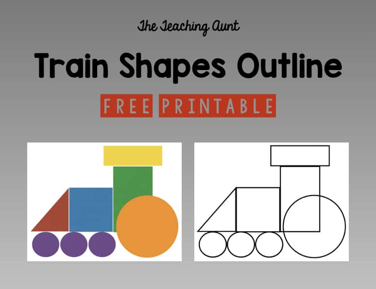 Train Shapes Pasting Free Printable