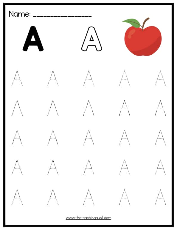 Free Uppercase Letters Tracing Worksheets