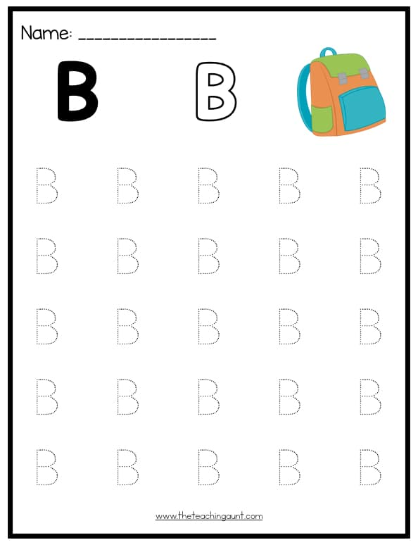 Uppercase Letters Tracing Worksheets (Set 1) - The Teaching Aunt