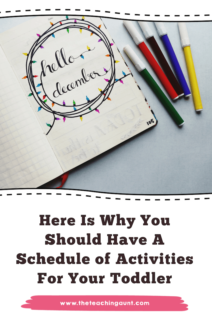 Weekly Plan of Activities for Toddlers