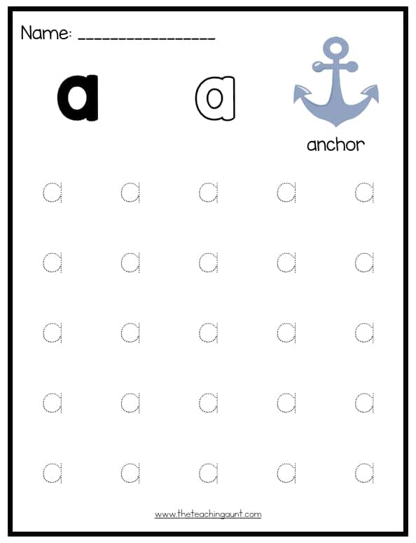 photograph regarding Free Printable Uppercase and Lowercase Letters Worksheets called Lowercase Letters Tracing Worksheets (Fixed 1) - The Schooling Aunt