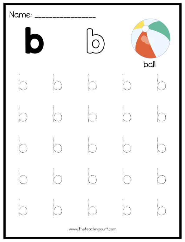 Lowercase Letters Tracing Worksheets (Set 1) - The Teaching Aunt