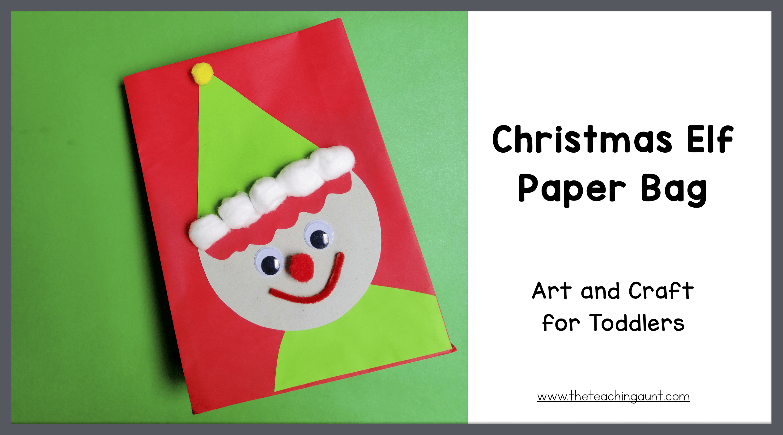 Christmas Elf Paper Bag Art and Craft for Toddlers