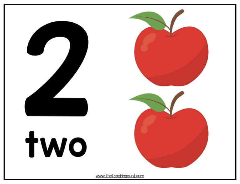 free numbers flashcards 1-20