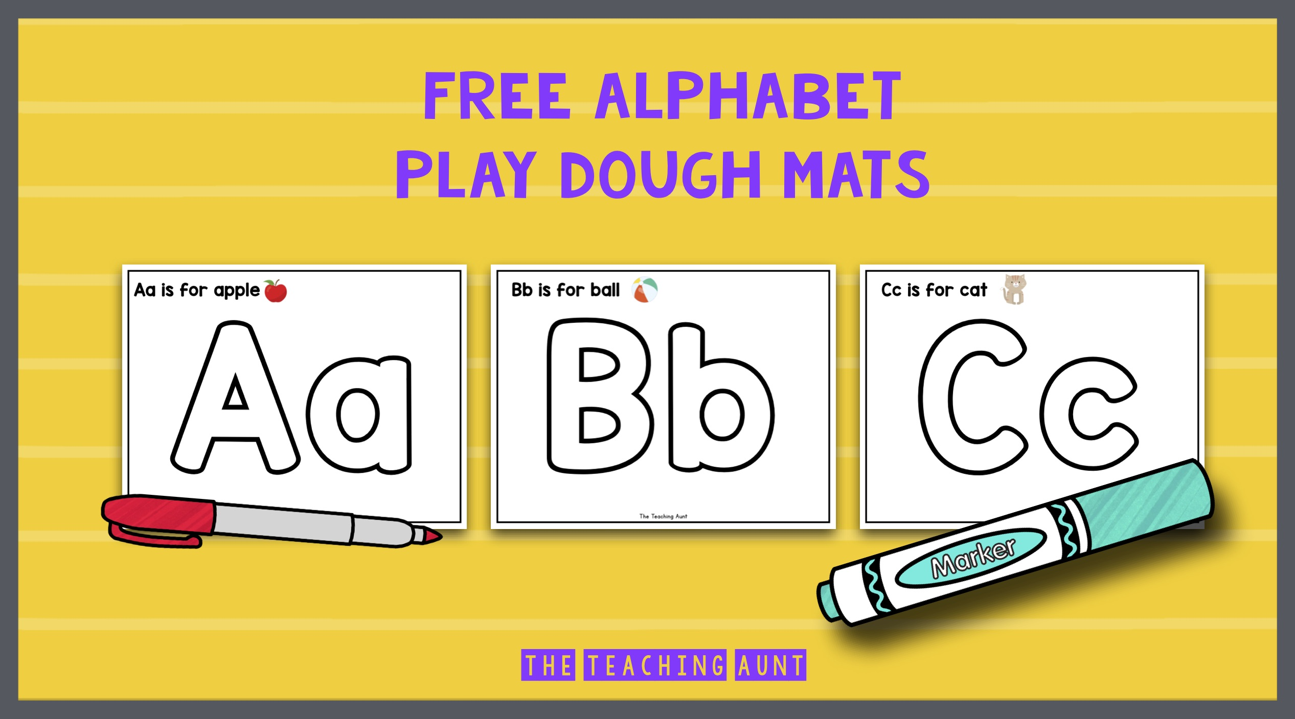 Free Alphabet Playdough Mats