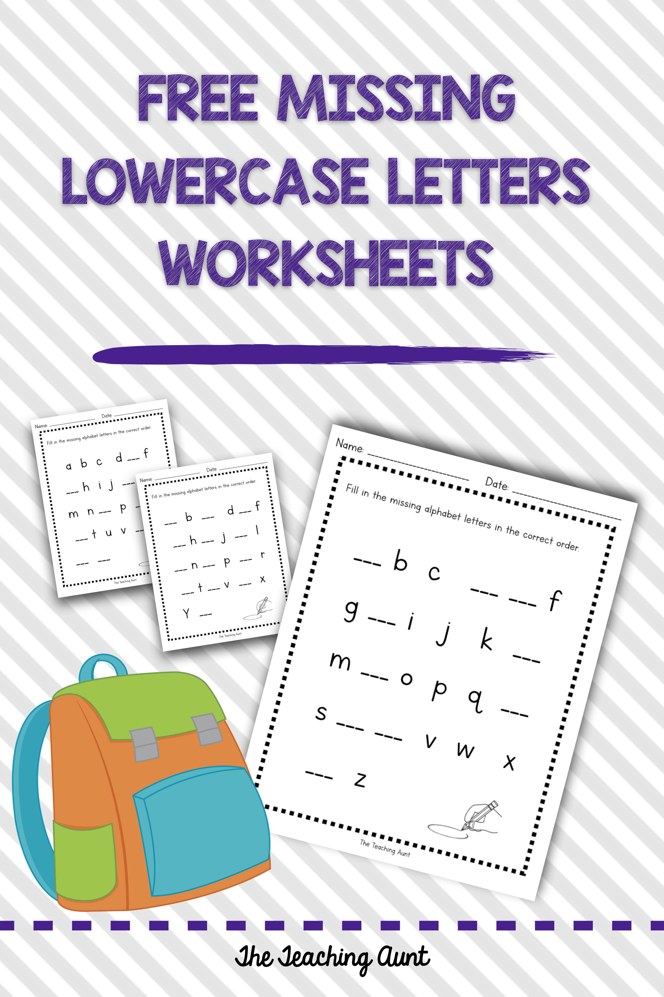 missing lowercase letters worksheets