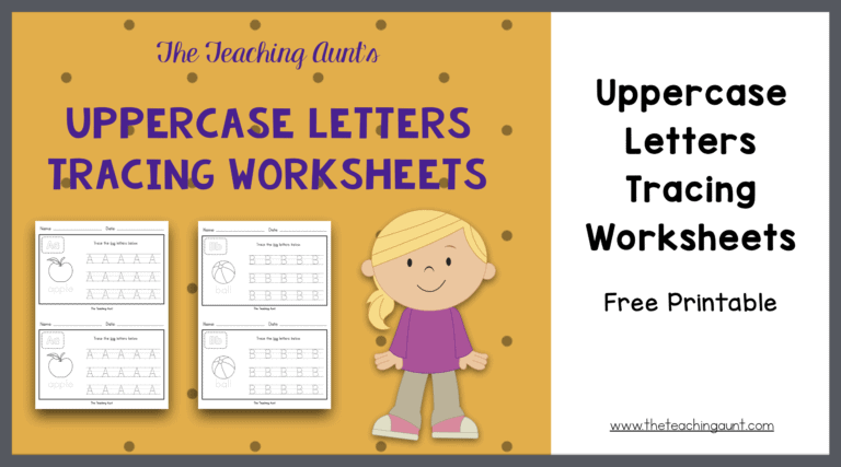Uppercase Letters Tracing Worksheets