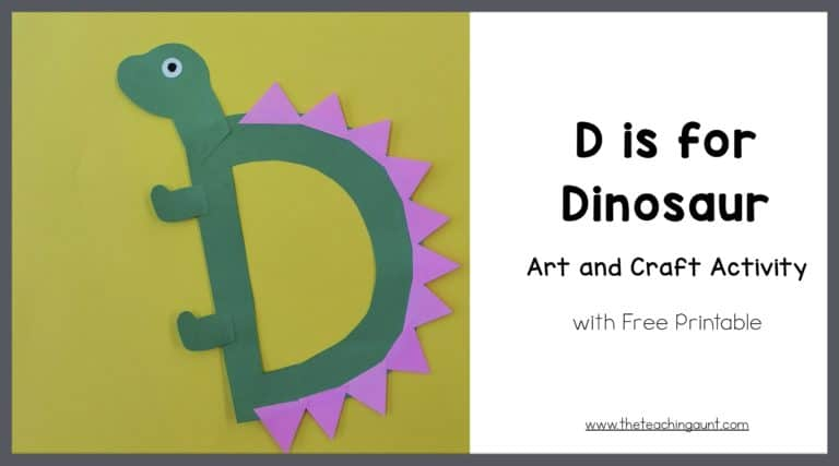 D is for Dinosaur Art and Craft