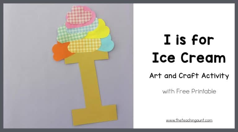 I is for Ice Cream Art and Craft