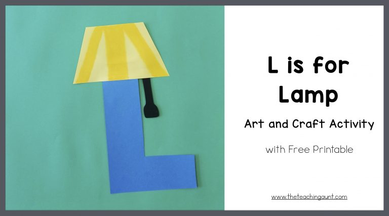 L is for Lamp Art and Craft