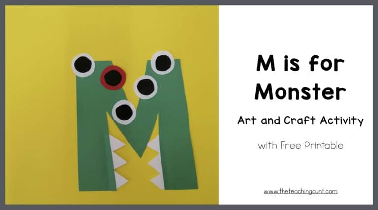 M is for Monster Art and Craft