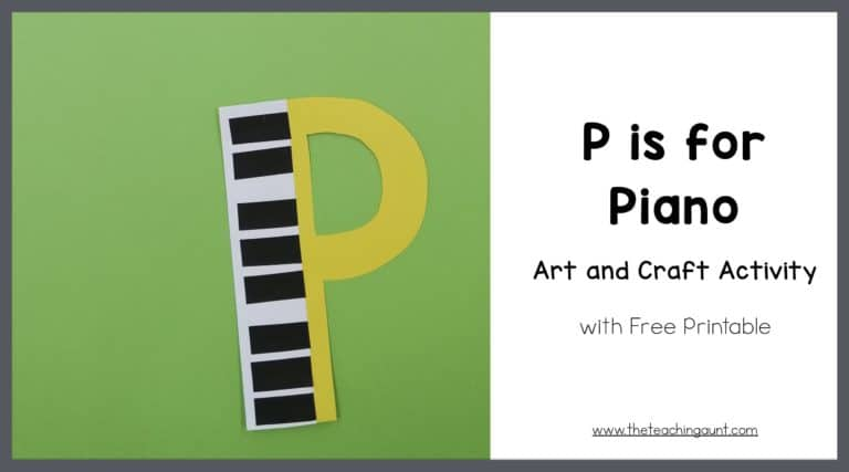 P is for Piano Art and Craft
