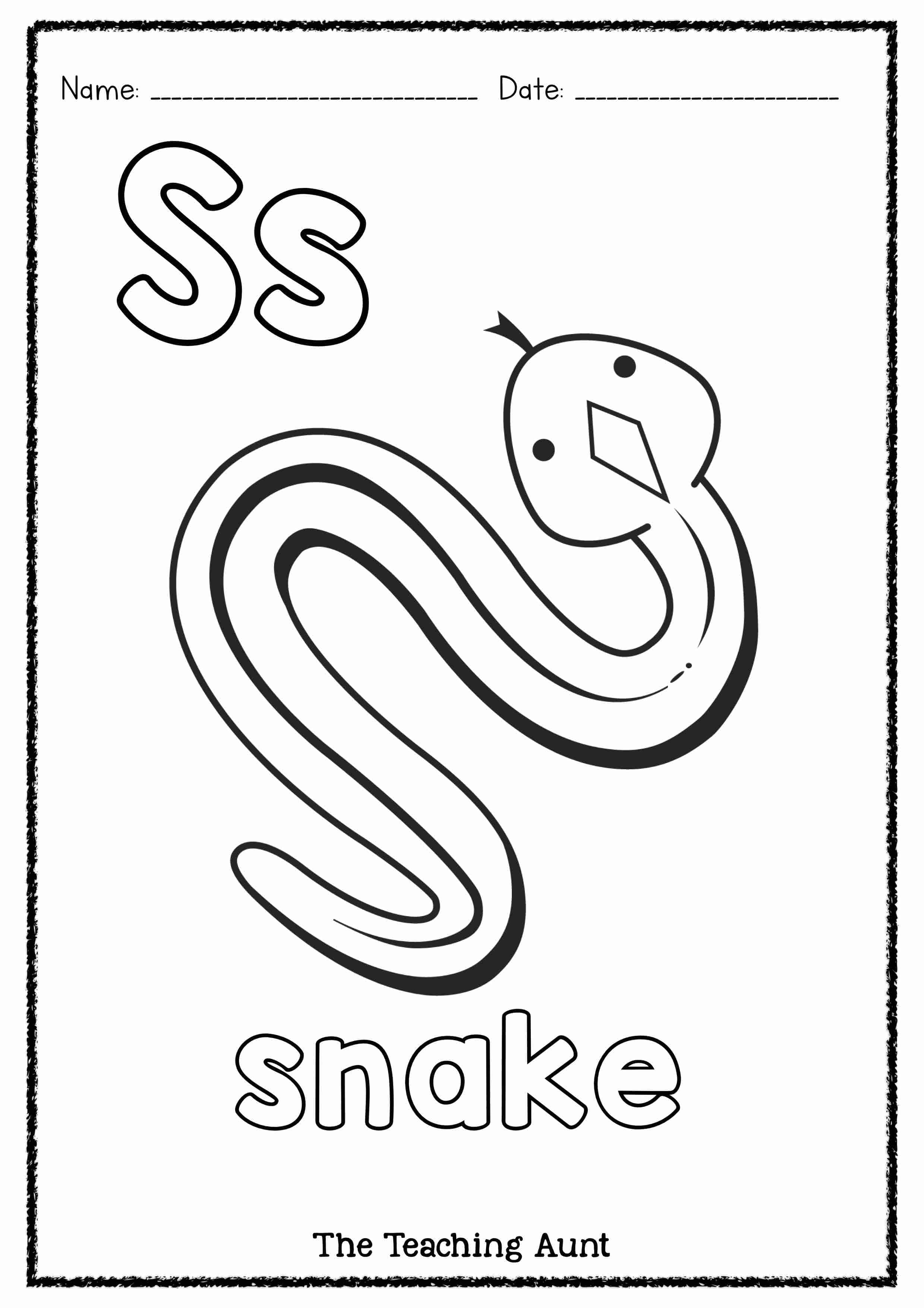 S is for Snake Art and Craft