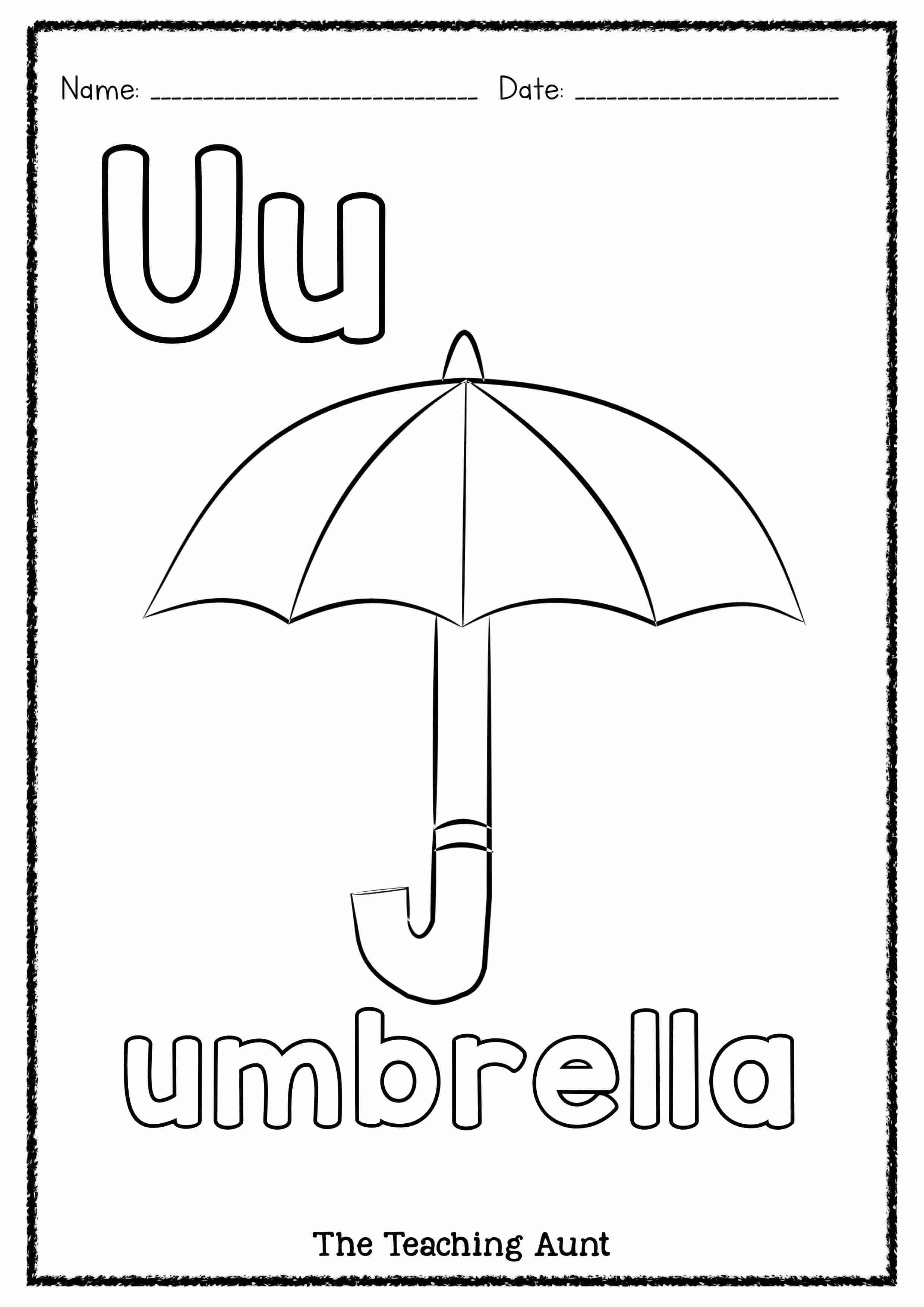 U is for Umbrella Art and Craft