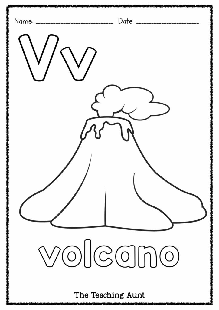 V is for Volcano Art and Craft