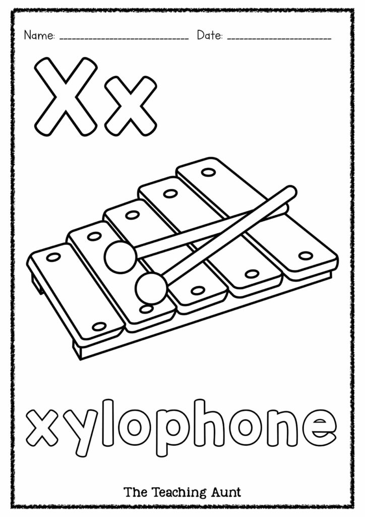 X is for Xylophone Art and Craft