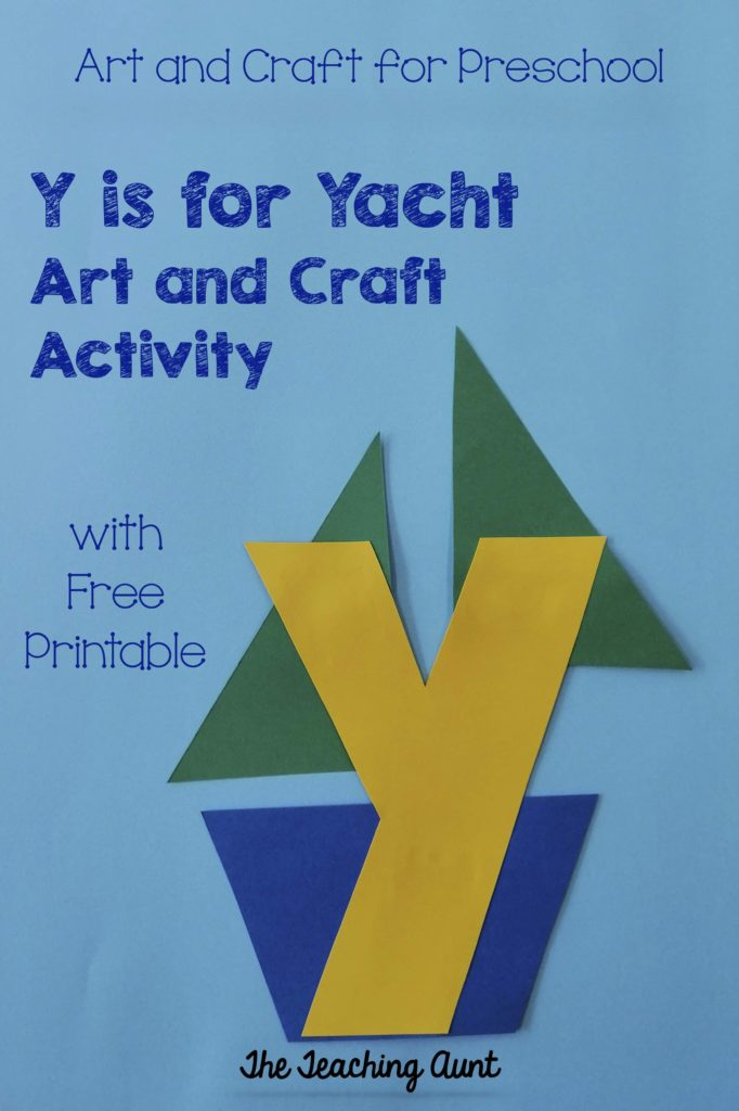 Y is for Yacht Art and Craft