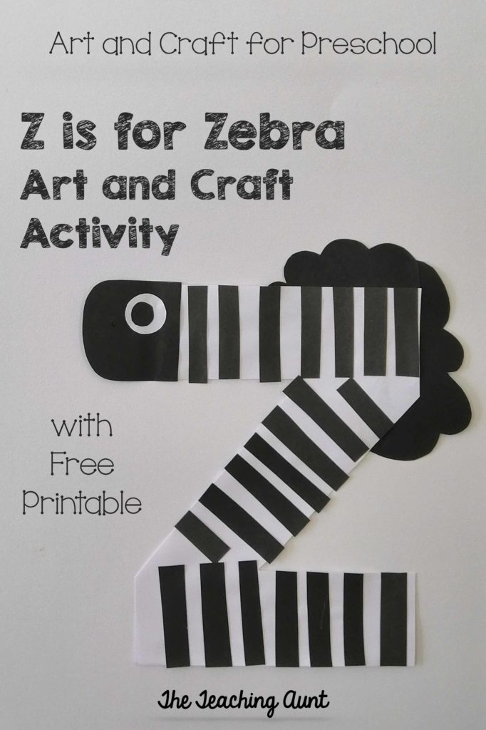 Z is for Zebra Art and Craft