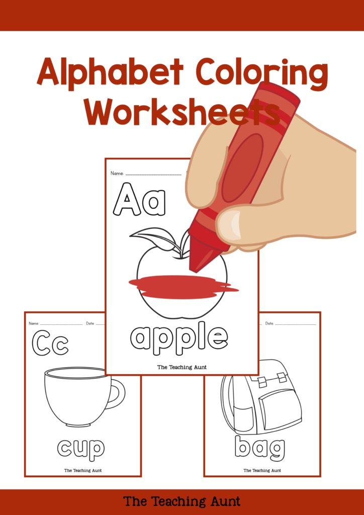 Alphabet Coloring Pages Free Printable - The Teaching Aunt