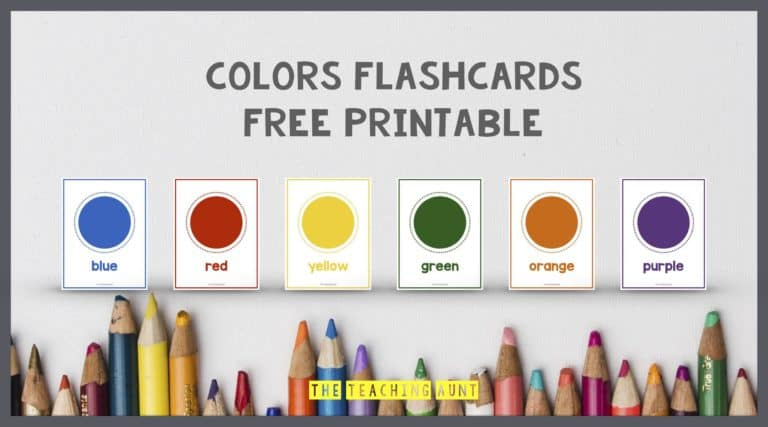 Colors Flashcards Free Printable