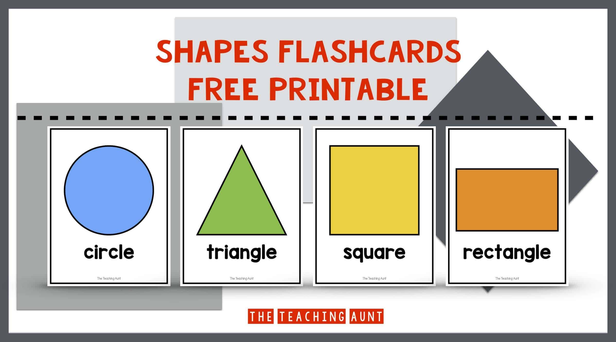 Shapes Flashcards Free Printable