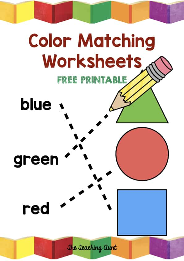 Free Matching Colors Worksheets