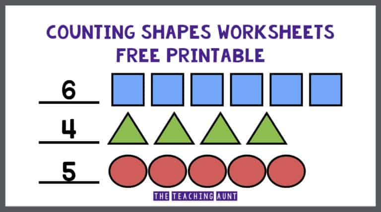 Counting Shapes Worksheets Free Printable