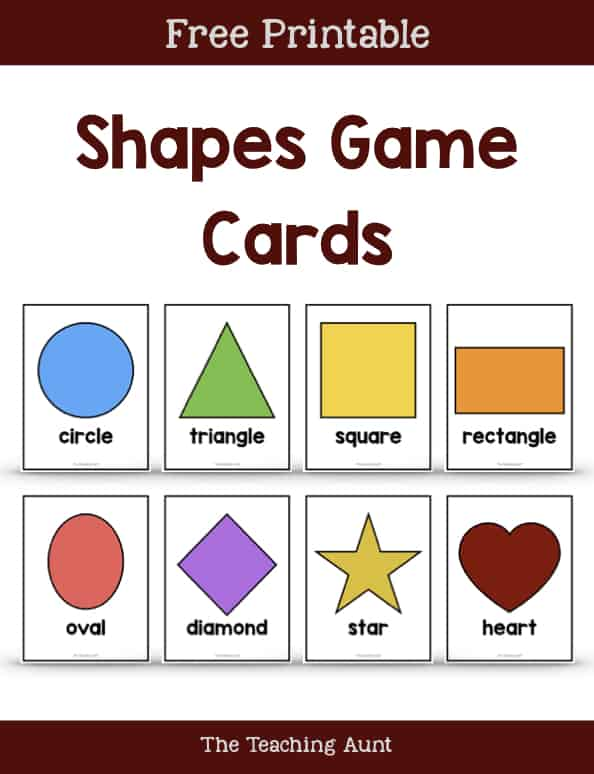Shapes Game Cards Free Printable