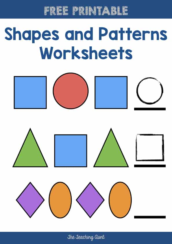 Shapes and Patterns Worksheets