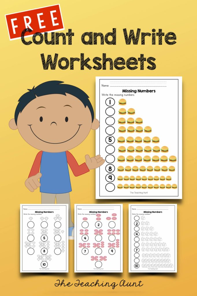 Free Count and Write Numbers Worksheets
