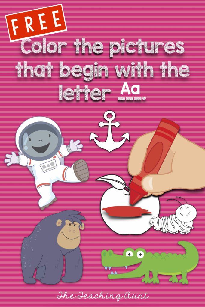 Free Beginning Letter Sound Worksheets