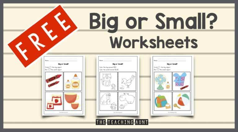 Big or Small Worksheets Free Printable